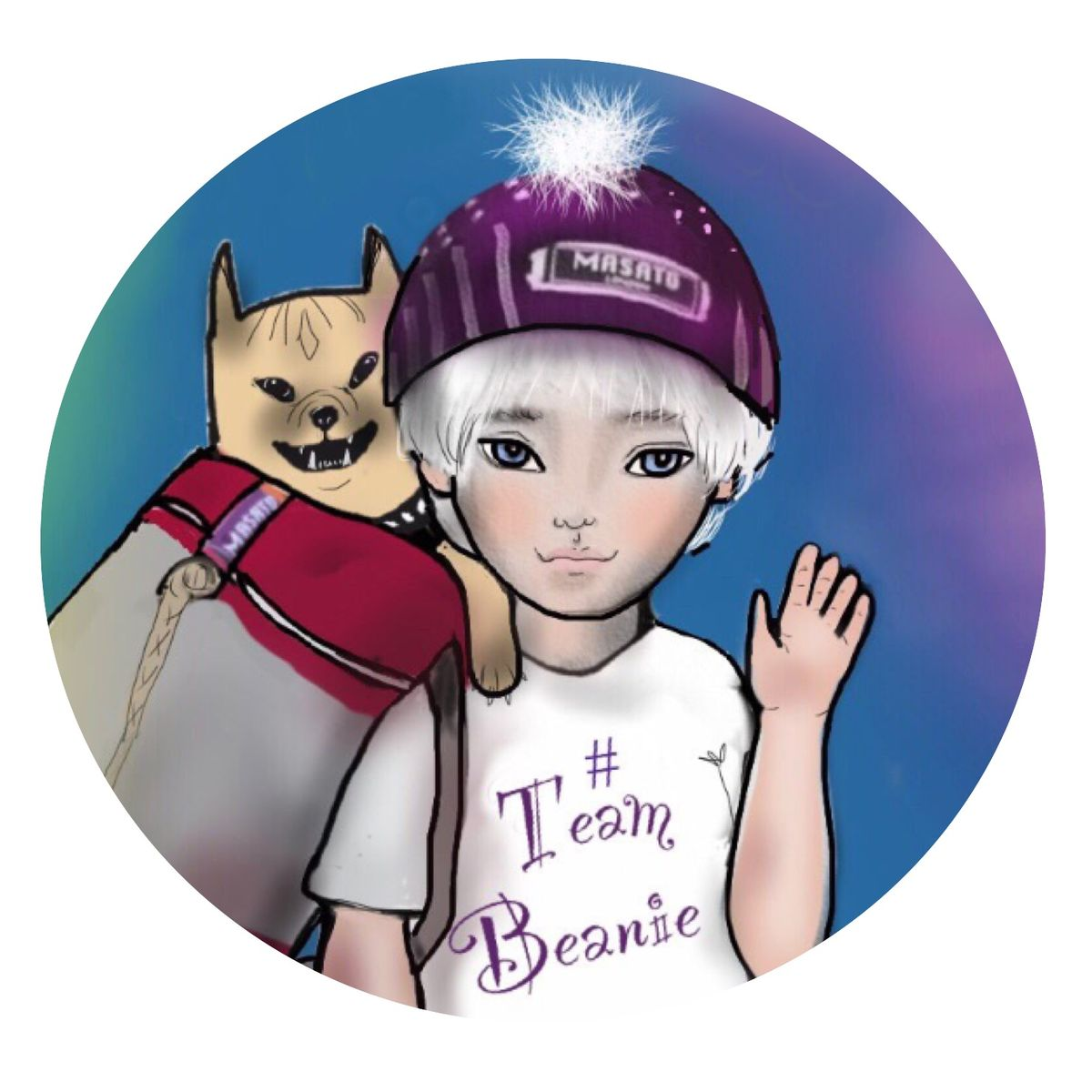 TEAM BEANIE BADGE 2017