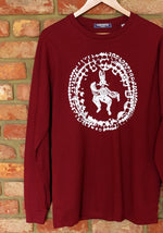 "Load image into Gallery viewer, Burgundy ""Rabbit Lore"" Long Sleeve Tee"