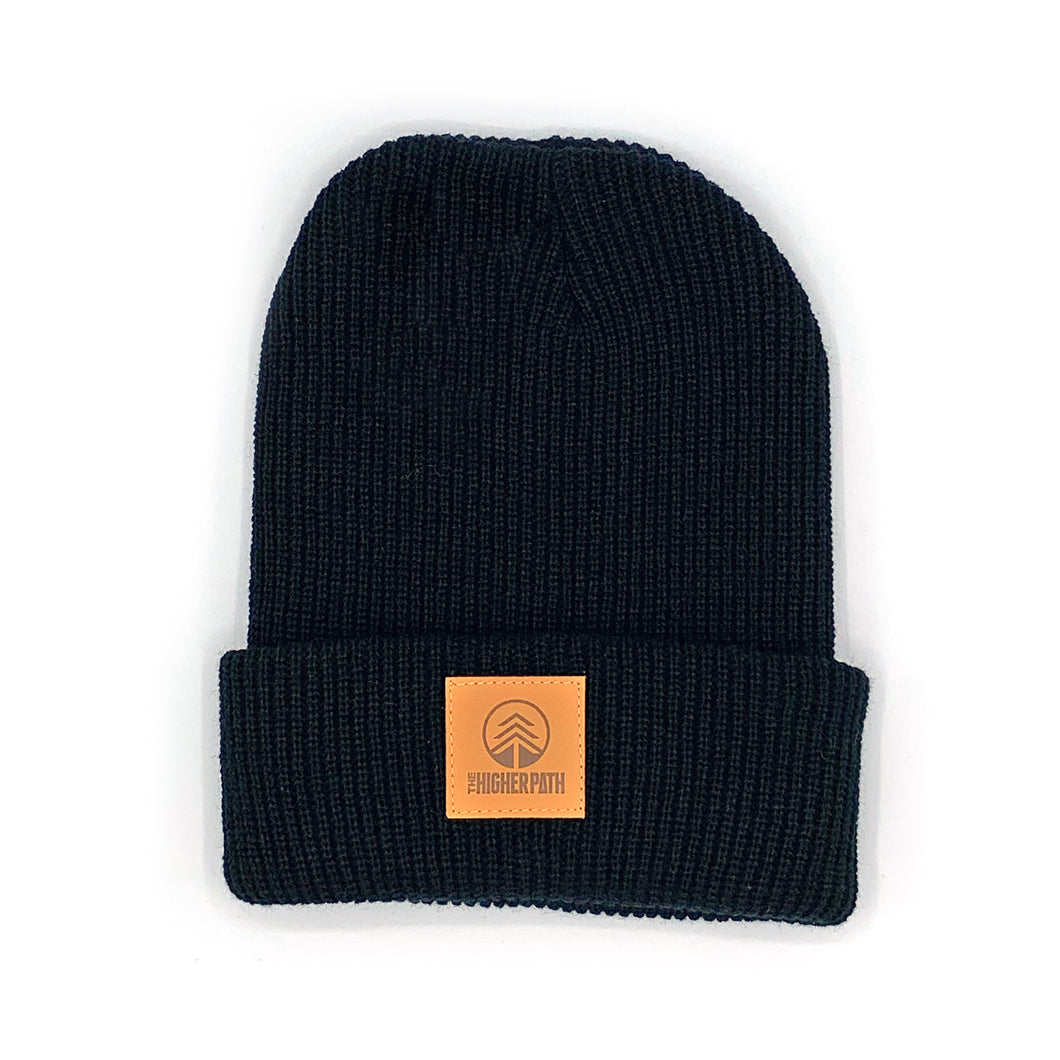 BEANIE - Black/Brown Label