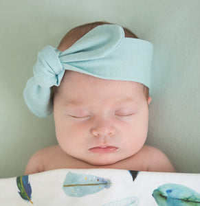 Spearmint Top Knot Headband | Snuggle Hunny Kids