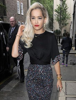 Rita Ora - Lone Warrior Dagger Earrings - May 2014