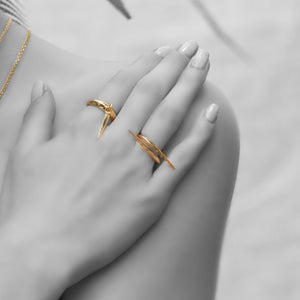 Zhaikya Studded Spike Ring - Sonal Bhaskaran London - 2
