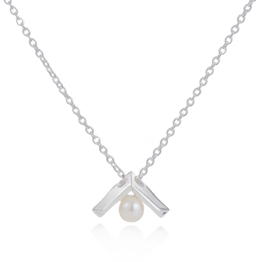 Kann Pearl Pendant - Freshwater Pearls with Black Spinel or Clear CZ