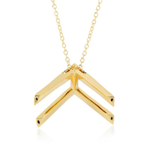 Pala Chevron necklace - Black Spinel or Clear CZ
