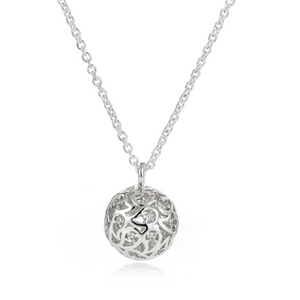 Svar Paisley Sphere Necklace Clear CZ - Sonal Bhaskaran London - 1