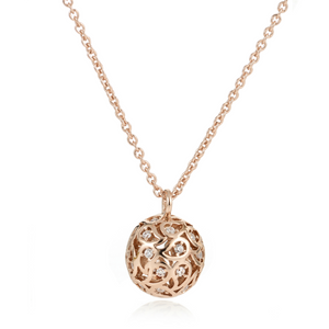 Svar Paisley Sphere Necklace Clear CZ - Sonal Bhaskaran London - 4