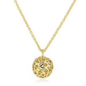 Svar Paisley Sphere Necklace Yellow CZ - Sonal Bhaskaran London - 2