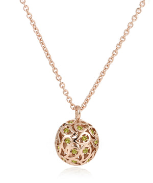 Svar Paisley Sphere Necklace Yellow CZ - Sonal Bhaskaran London - 3