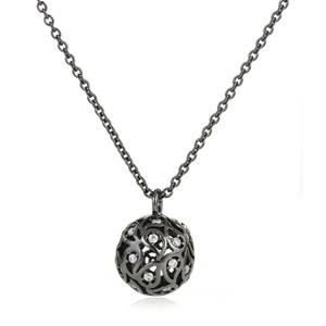 Svar Paisley Sphere Necklace Clear CZ - Sonal Bhaskaran London - 6
