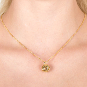 Svar Paisley Sphere Necklace Yellow CZ - Sonal Bhaskaran London - 5