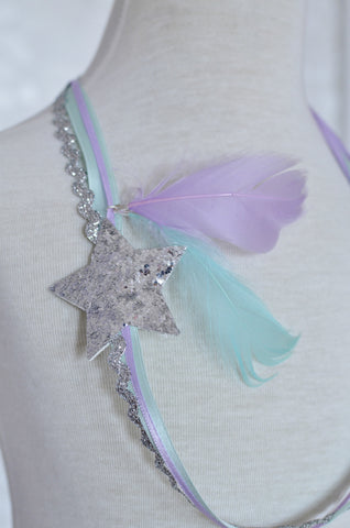 Falling Stars Necklace / Lavender