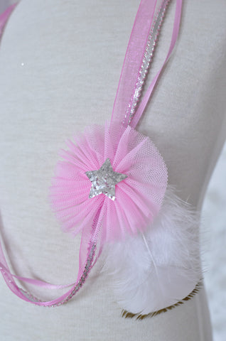 Tulle Necklace / Pink