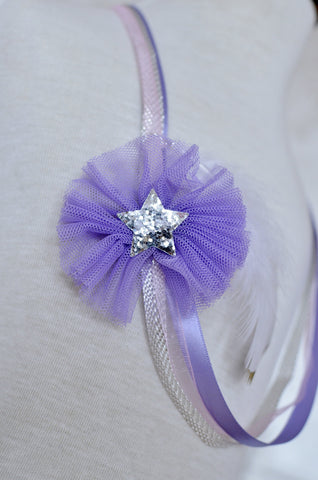 Tulle Necklace / Lavender
