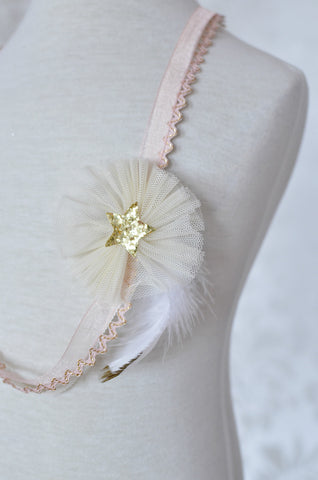 Tulle Necklace / Peach