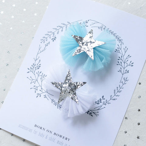 Tulle Star Clip Set