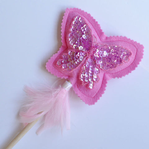 Pink Fairy Butterfly Wand