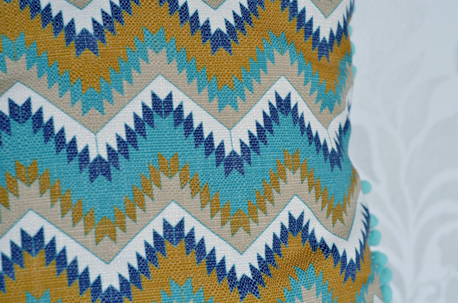 Tribal Pillow Cover / Turquoise