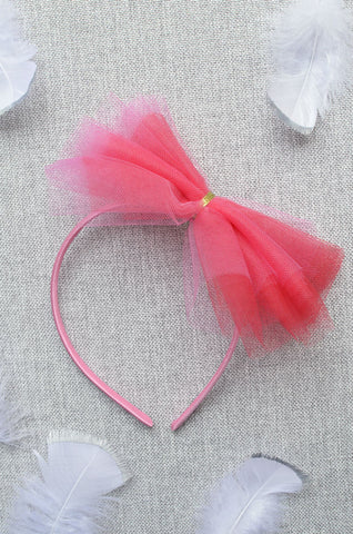 Party Tulle Headband in Pink