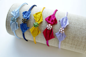 Swarovski + Silk Collection Headbands