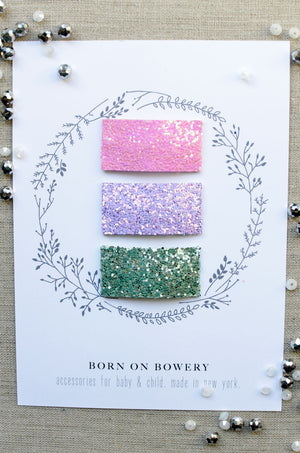 Glitter Snap Clips / Set of 3