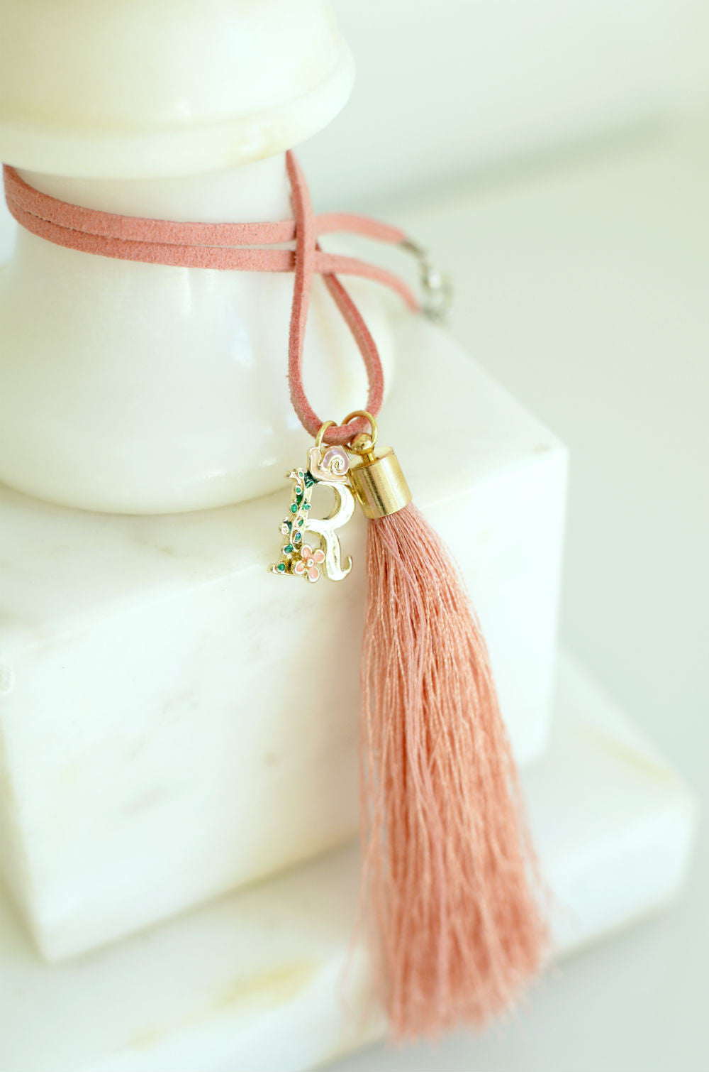Personalized Silk Tassel Necklace