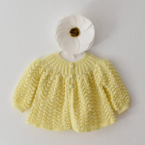 Hand Knit Baby Sweater / Buttercup