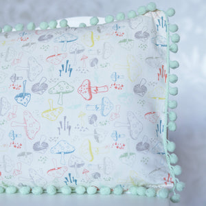 Woodland Nursery Pillow in Morel Grove