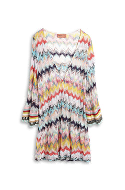 Missoni multi zig zag short kaftan
