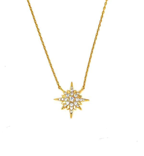 IcandiRocks North Star Necklace Gold