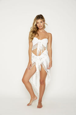 Beach Bunny Indian Summer Long Pareo White