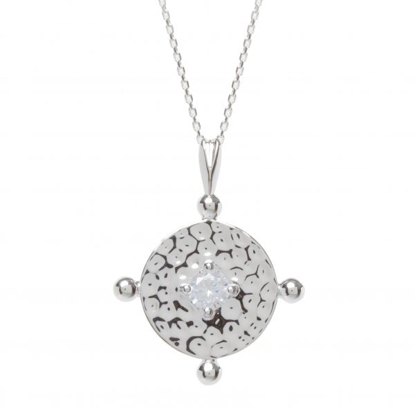 Kim Minchin Amalfi Coin Silver with Clear