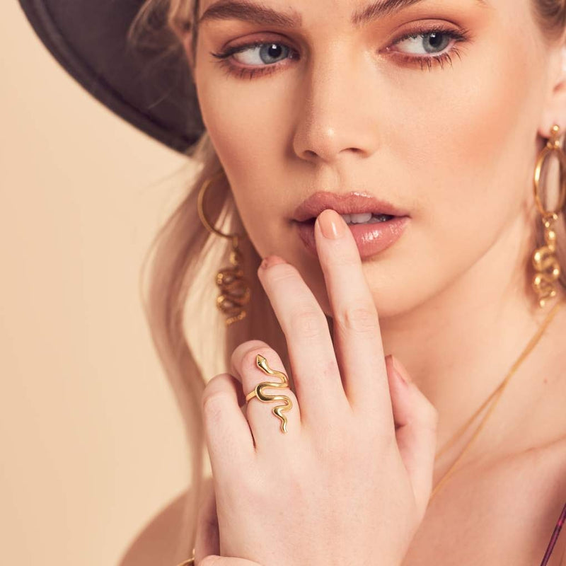 Wolf & Gypsy Snake Ring Gold