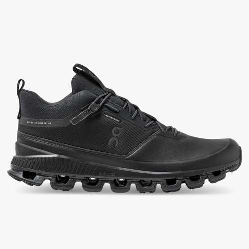 ON Running Cloud Hi Waterproof All Black