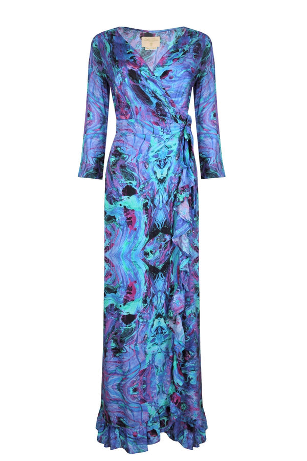 Sophia Alexia Ruffle Wrap Dress Into the Deep - long length