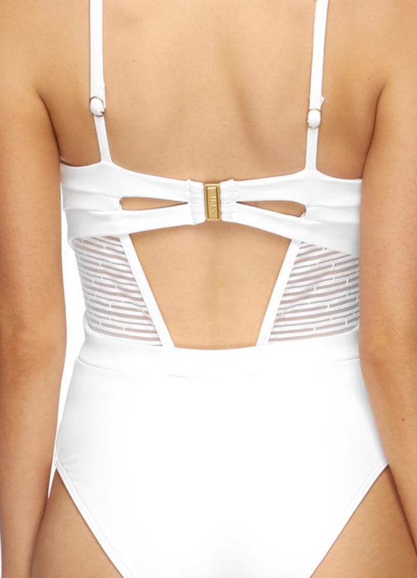 Jets Swimwear Cross Front white One-Piece