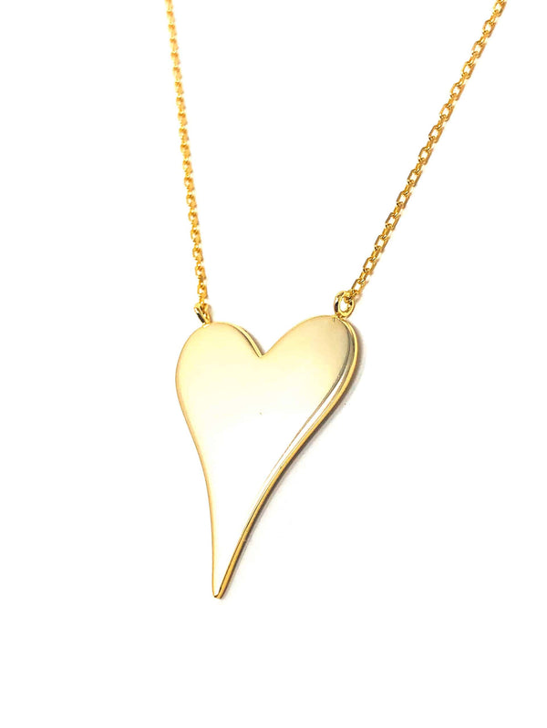 IcandiRocks Gold Plain Heart Necklace