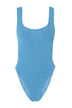 HunzaG Classic Square Neck One Piece in Sky Blue