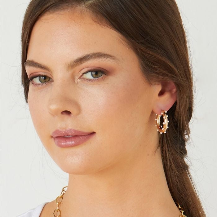 Ashiana London Luana Hoop Earrings
