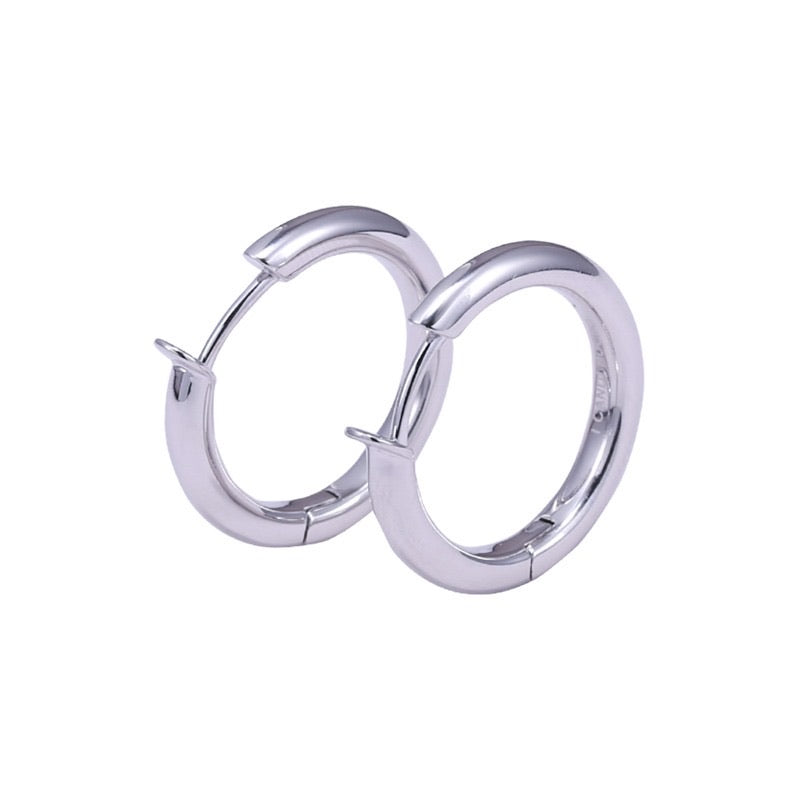 IcandiRocks Naked Hoops in Silver