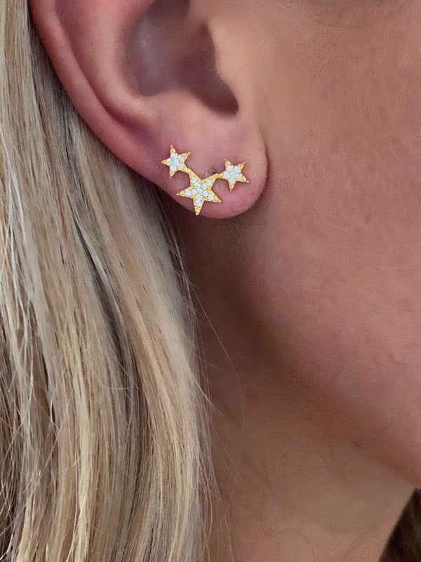 IcandiRocks Lucky Star Studs Gold
