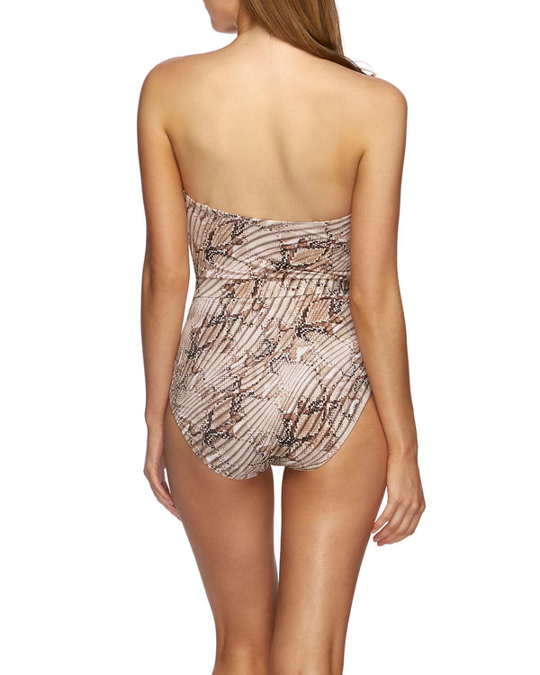 Jets Swimwear Bandeau One Piece Snake