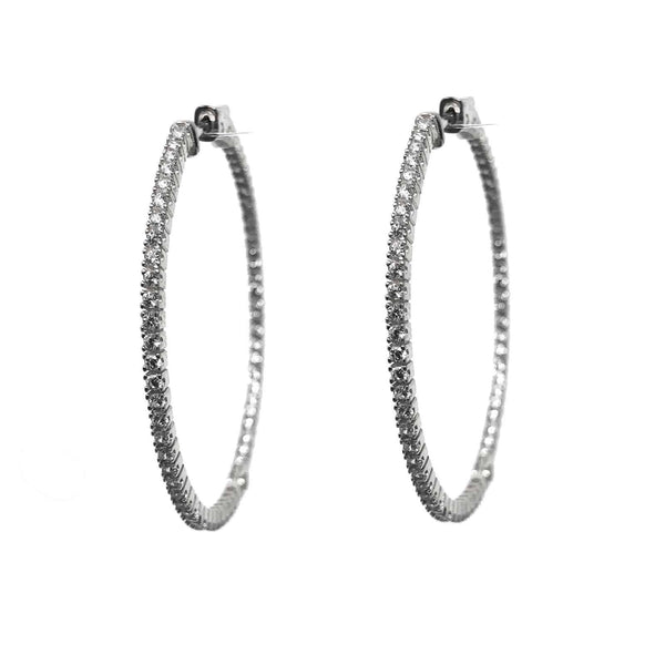 IcandiRocks Eleanor Hoops in Silver