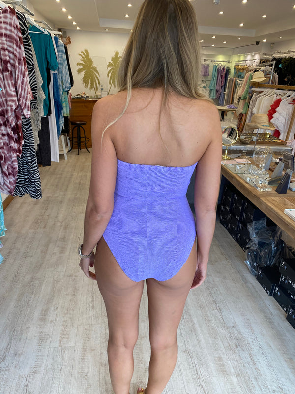 Hunza G Audrey Swimsuit in Lilac