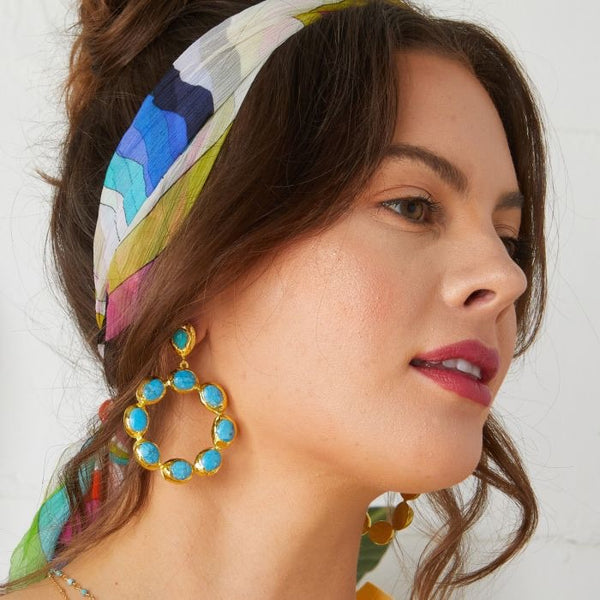 Ashiana London Wanda Earrings Turquoise