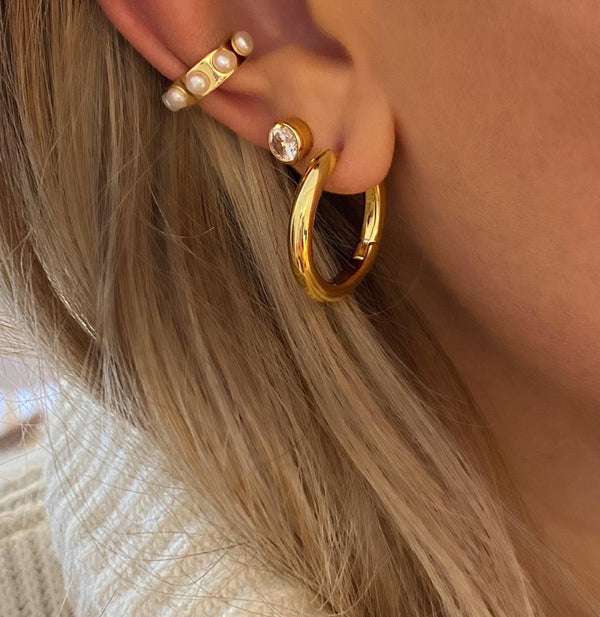 IcandiRocks Naked Hoops in Gold