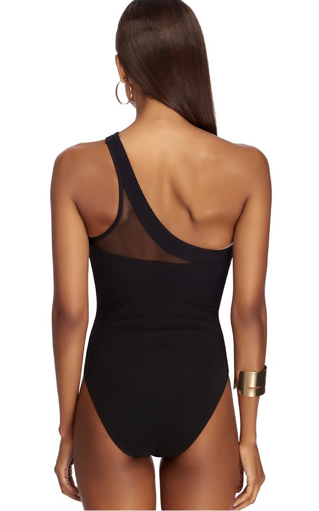 Jets Swimwear One Shouldered One Piece