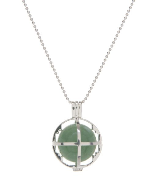 Kim Minchin The Roxy Cage - Silver with Green Aventurine