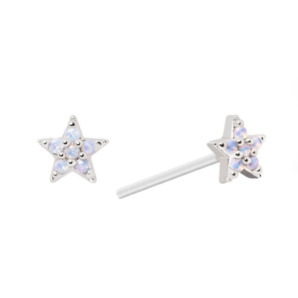 Astrid & Miyu Mystic Star Stud Earrings in Silver