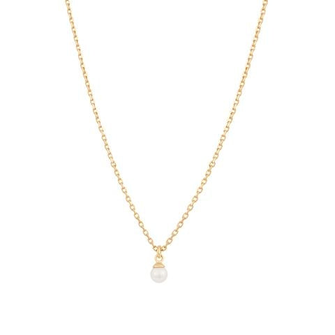 Astrid & Miyu Pearl Pendant Necklace in Gold