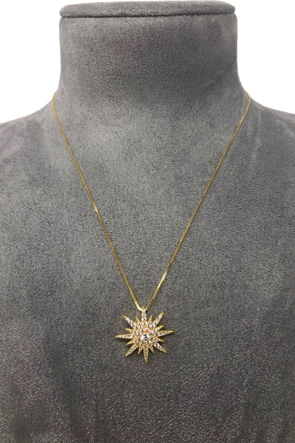 IcandiRocks Gold Rock Star Necklace